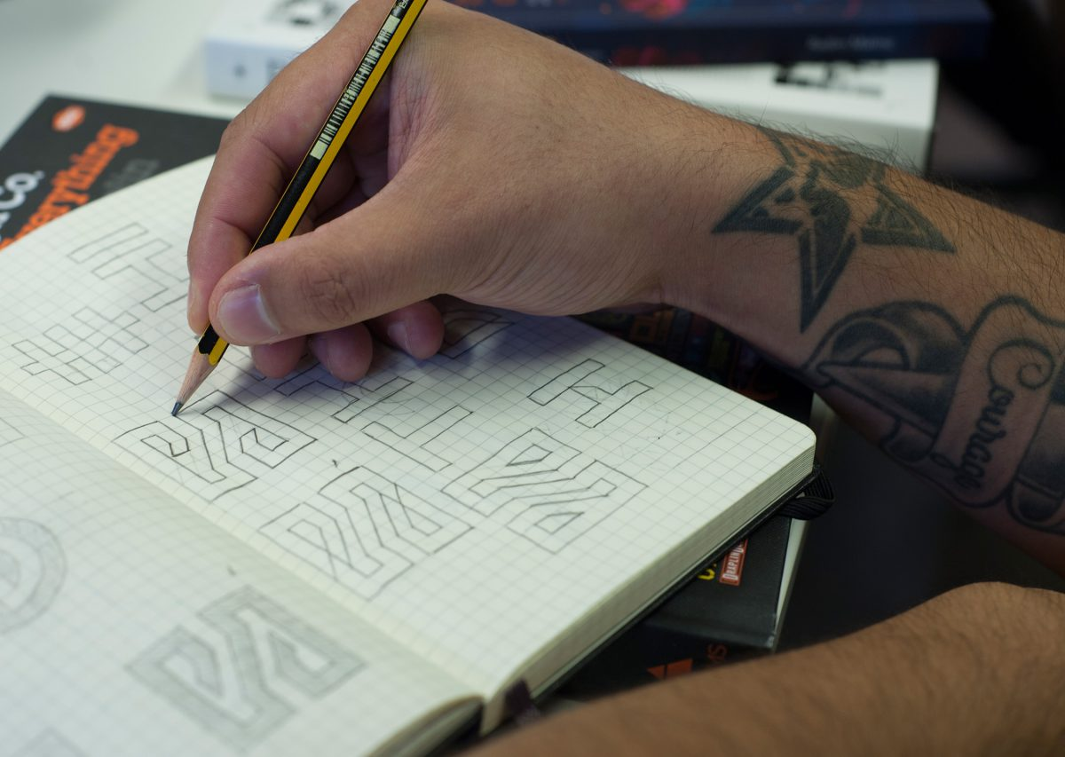 hideout-new-logo-sketches