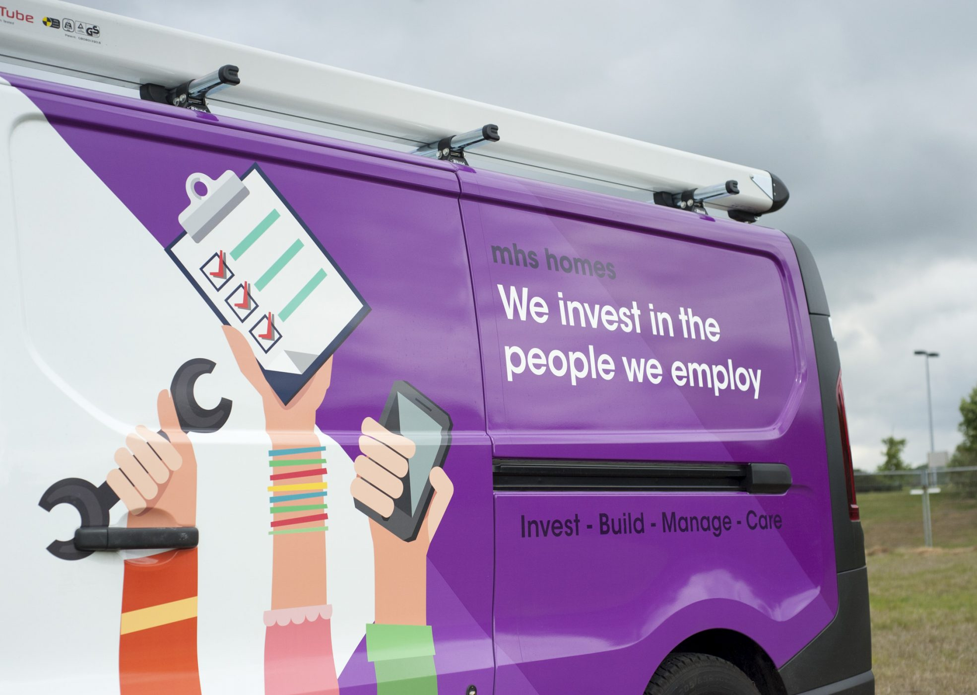 MHS Homes Purple Van