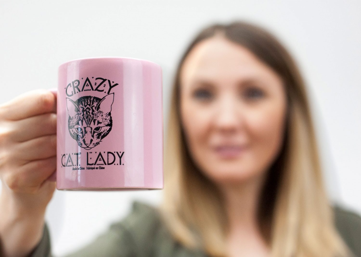 Crazy Cat Lady Pink Mug Sarah