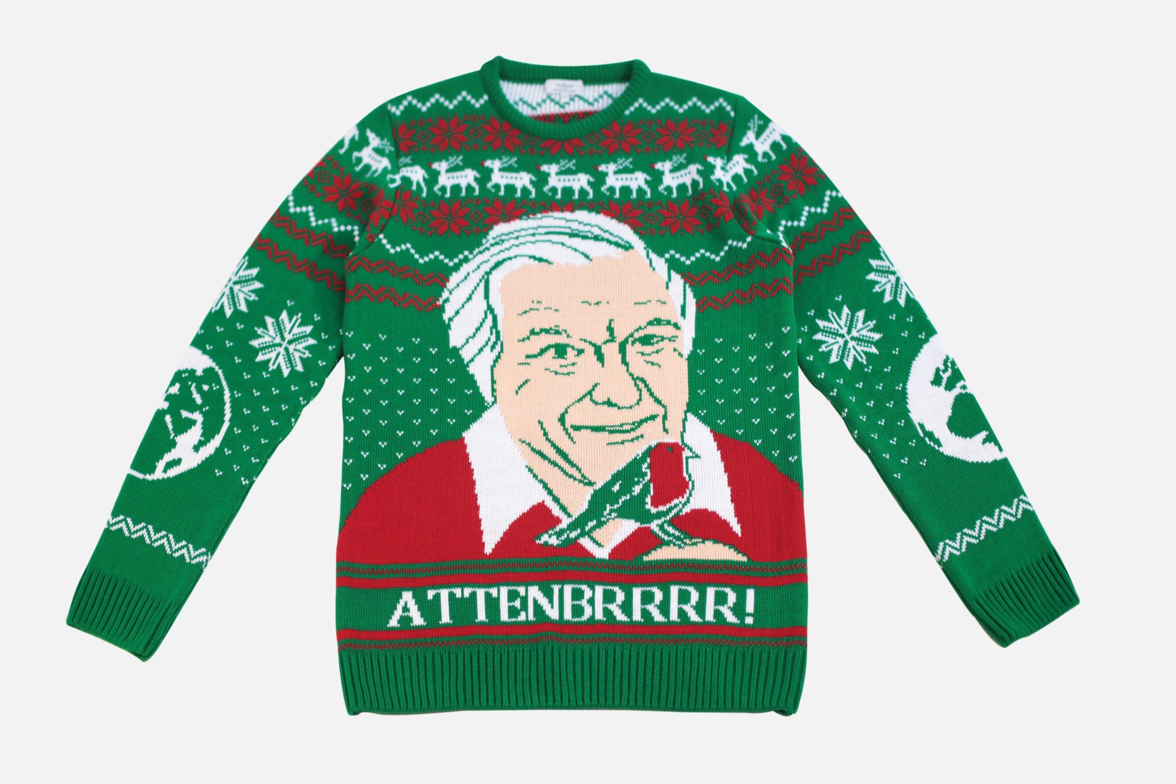 NotJust Attenborough Christmas Jumper