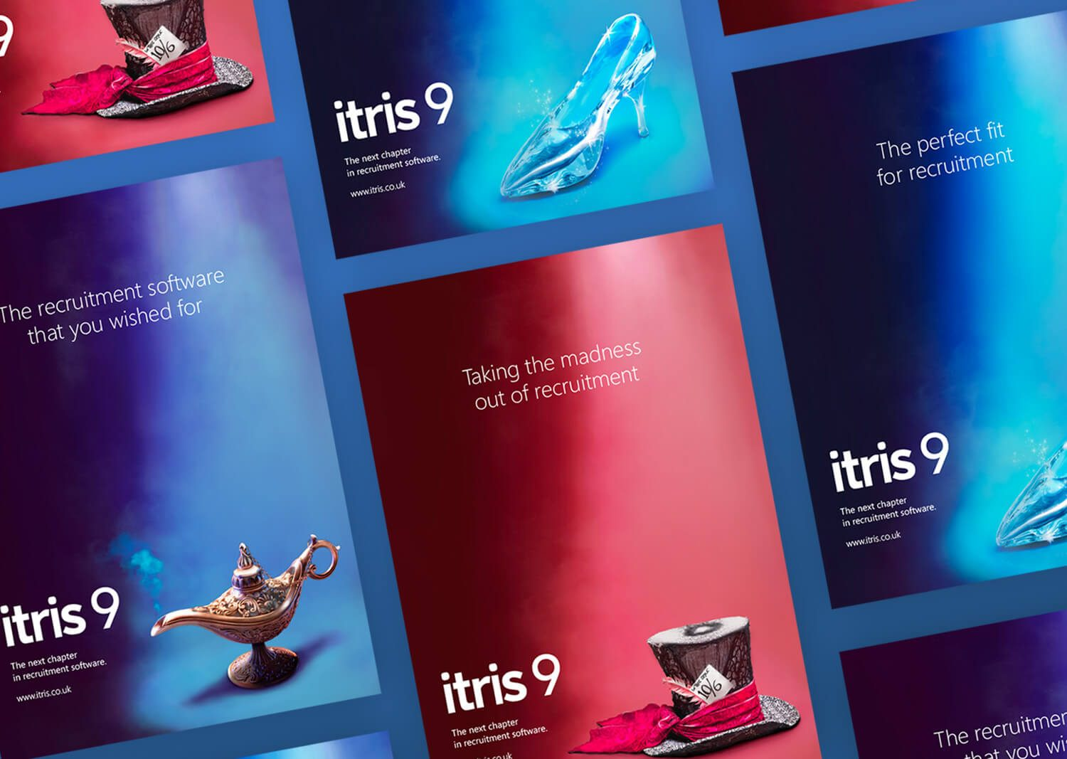 Set of campaign posters for Itris 9