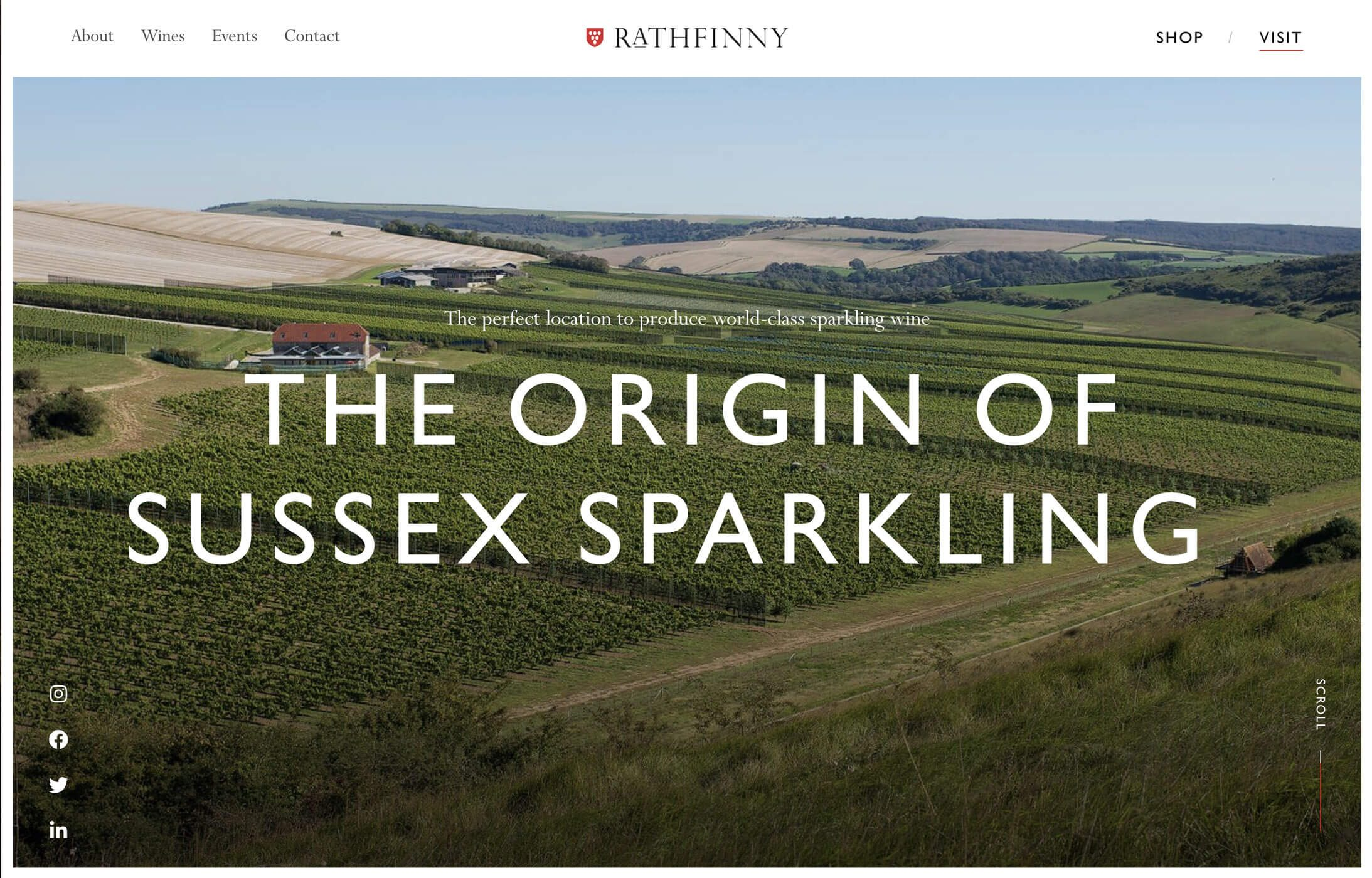 Rathfinny Wines Website Header
